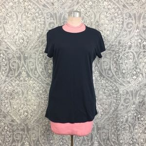 Vince Navy Short Sleeve Tee Shirt